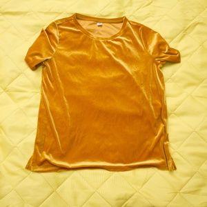 Gold Velvet Loose Fit T-Shirt